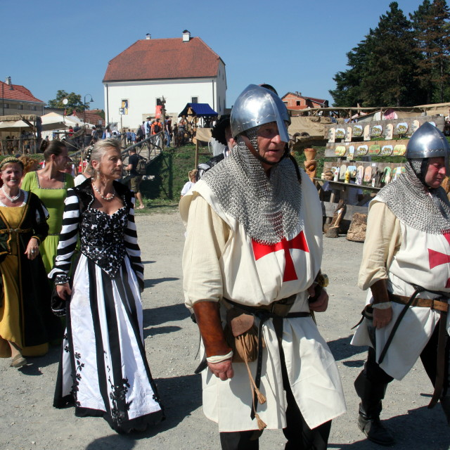 """Renaissance Festival, Koprivnica, Croatia, 2015, 36"" stock image"