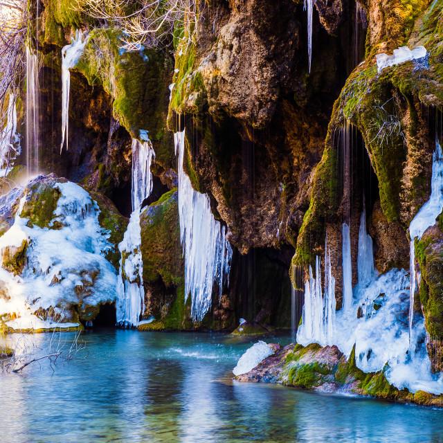 """""""Frozen cascade"""" stock image"""