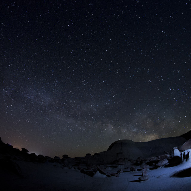 """Milkyway in the desert"" stock image"