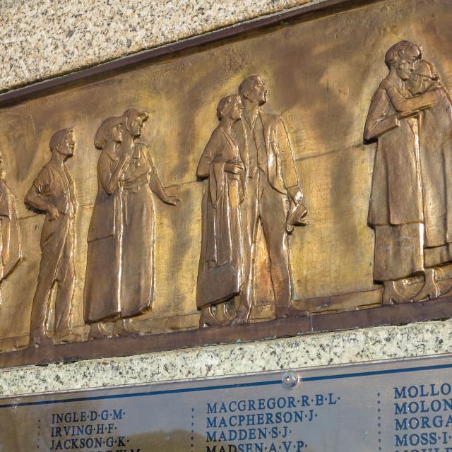 """war memorial frieze"" stock image"