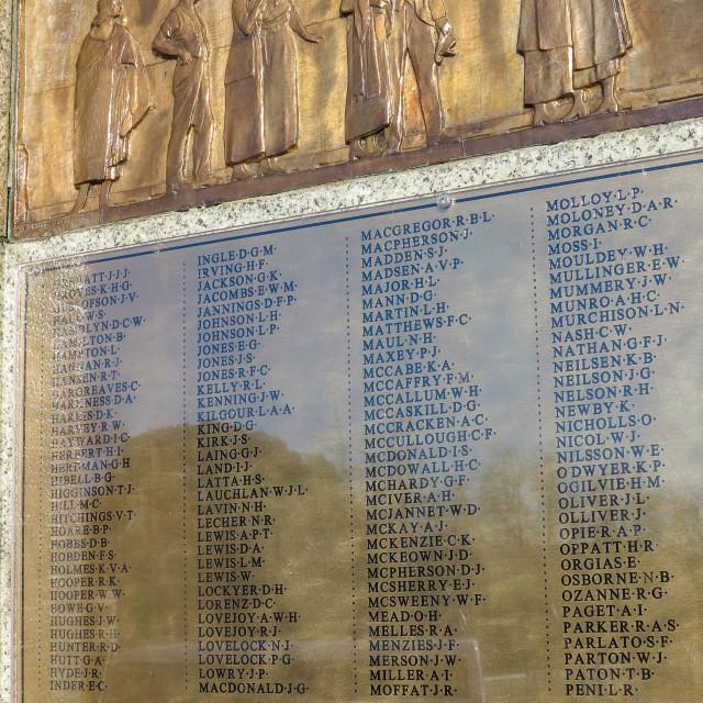 """""""Memorial honour roll"""" stock image"""