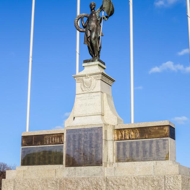 """Palmerston North war memorial."" stock image"