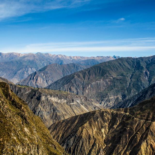 """Colca Canyon, Peru"" stock image"