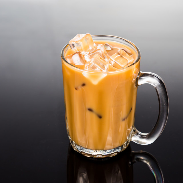 """Iced coffee with milk"" stock image"