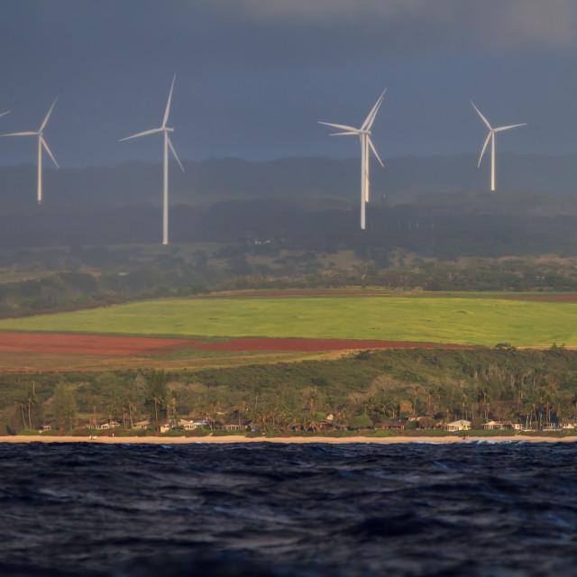 """Giant windmills"" stock image"