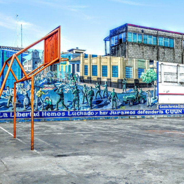 """León basketball court"" stock image"