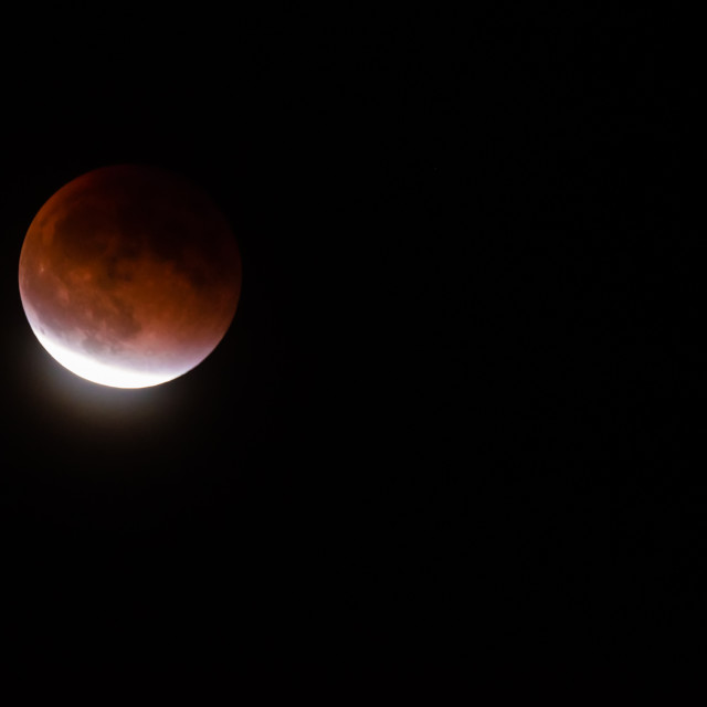 """Supermoon Lunar Eclipse"" stock image"