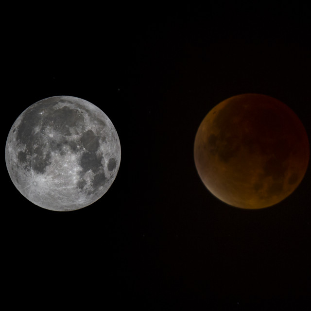 """Blood Red Super Moon Eclipse"" stock image"