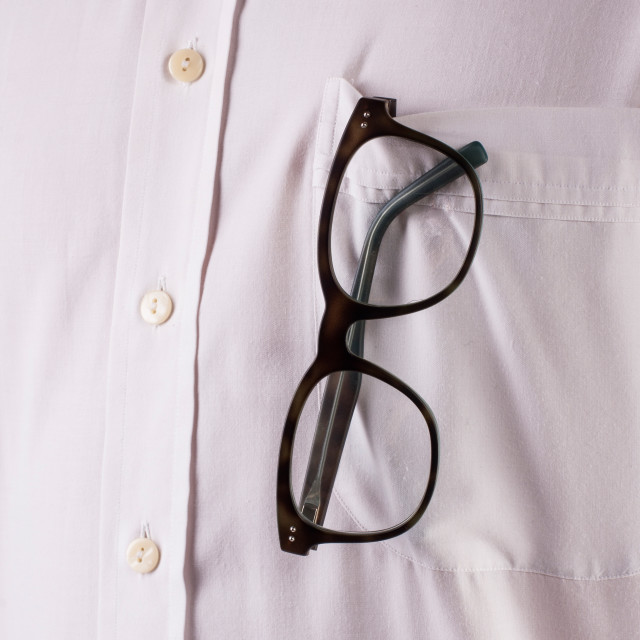 """white shirt with sunglasses"" stock image"