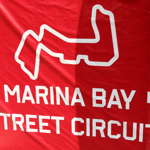 """Marina Bay Street Circuit, Singapore Grand Prix 2015"" stock image"