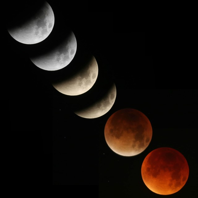 """Super Blood Moon and Lunar Eclipse"" stock image"