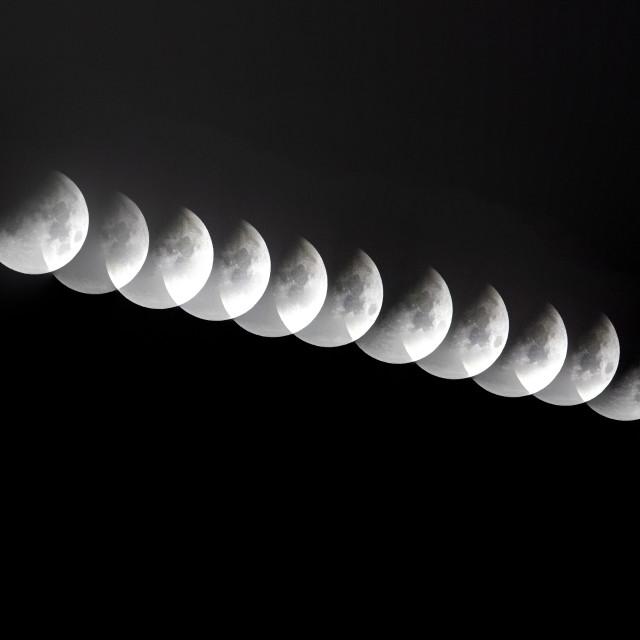 """Lunar Eclipse Super-moon 2015"" stock image"