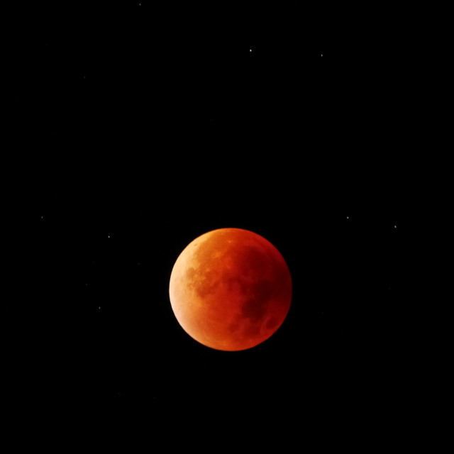 """Lunar eclipse 28/09/15"" stock image"