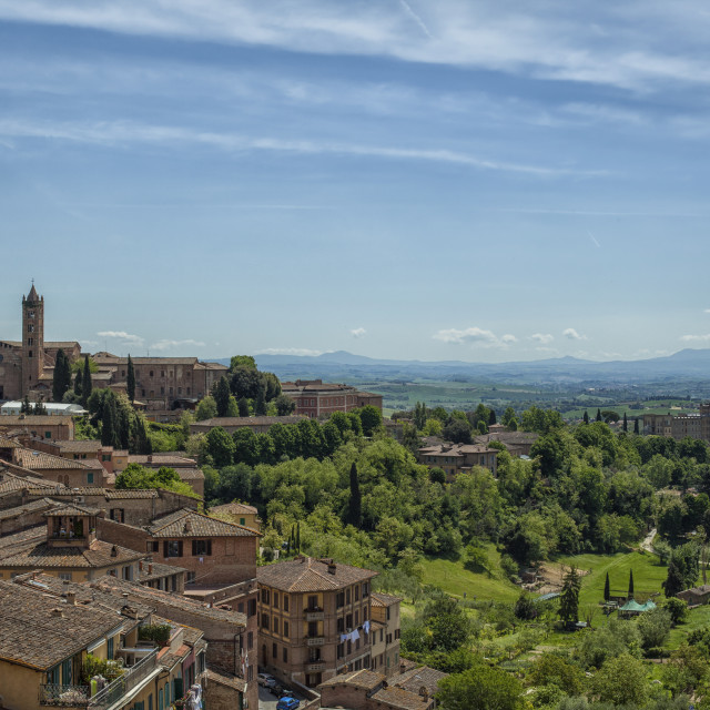 """""""View from Sienna in Italy"""" stock image"""