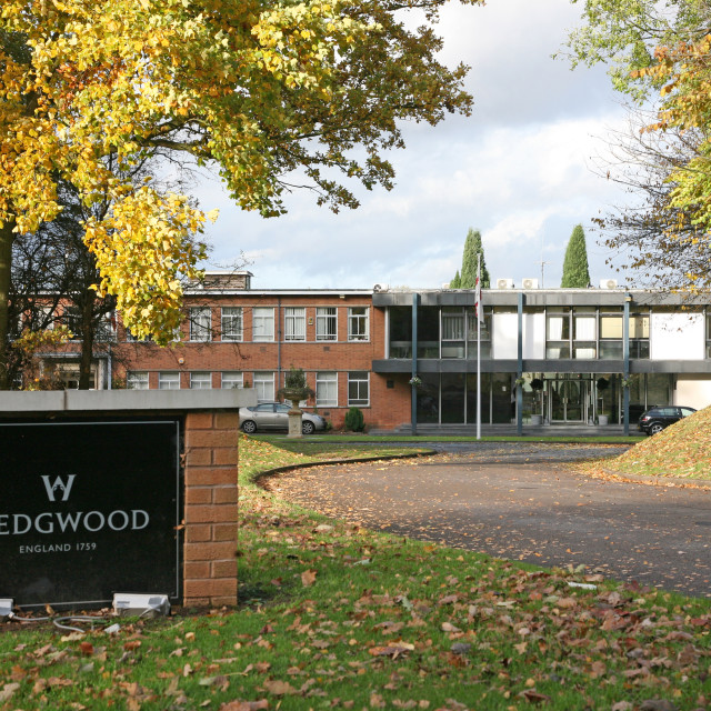 """The Wedgwood Pottery factory, company headquarters, Barlaston, Stoke-on-Trent, Staffordshire"" stock image"