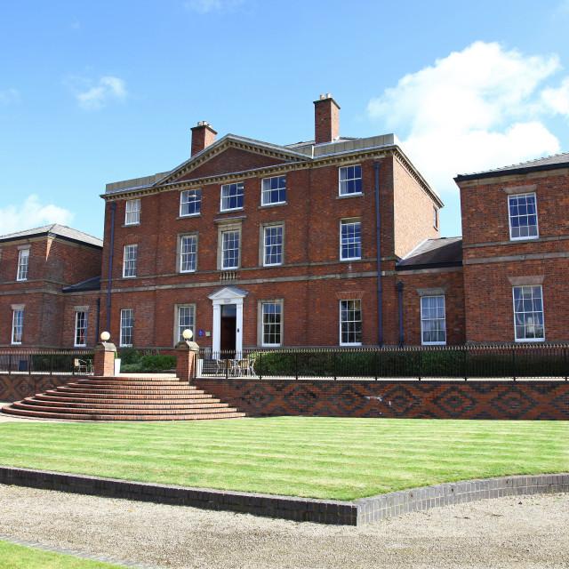 """Etruria Hall, home of Josiah Wedgwood the master potter, Stoke-on-Trent, Staffordshire, England, UK"" stock image"