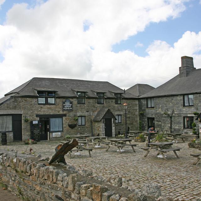 """Jamaica Inn, Bodmin Moor, Cornwall, England, UK"" stock image"