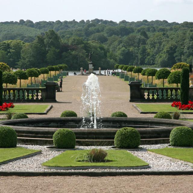 """The restored Italianate Garden at Trentham Gardens, Stoke-on-Trent, Staffordshire, England"" stock image"