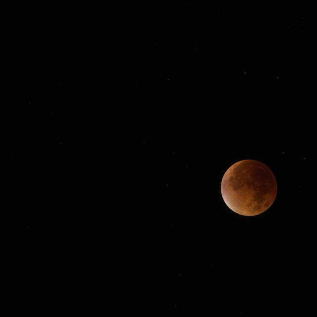 """Supermoon eclipse"" stock image"