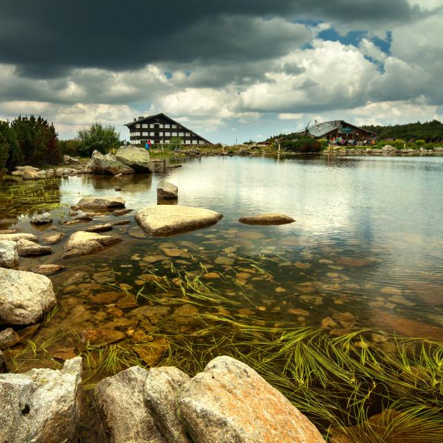 """""""Hut at the lake"""" stock image"""