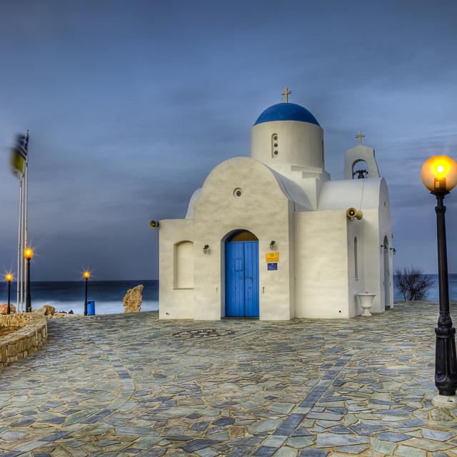 """Agios Nikolaos (St. Nicholas church) Paralimni Cyprus Island"" stock image"