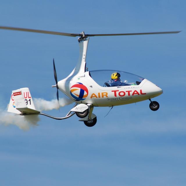 """Calidus Autogyro, Shoreham"" stock image"