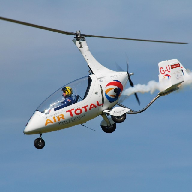 """Rotorsport UK Calidus Autogyro"" stock image"