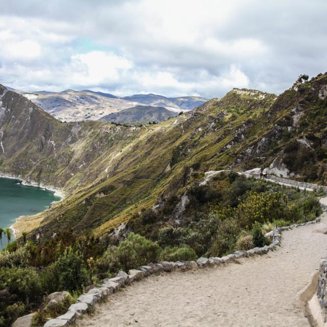 """""""Lake Quilotoa, Ecuador"""" stock image"""
