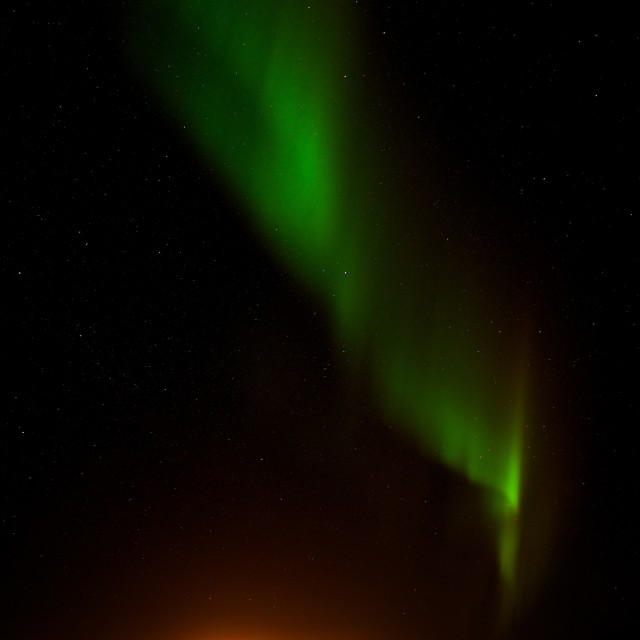 """bodø and Aurora Borealis"" stock image"