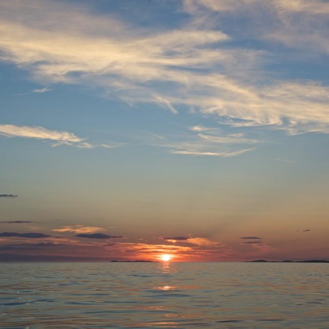 """Sunset over oscean"" stock image"