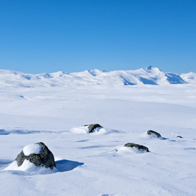 """""""Snow covered mountains"""" stock image"""