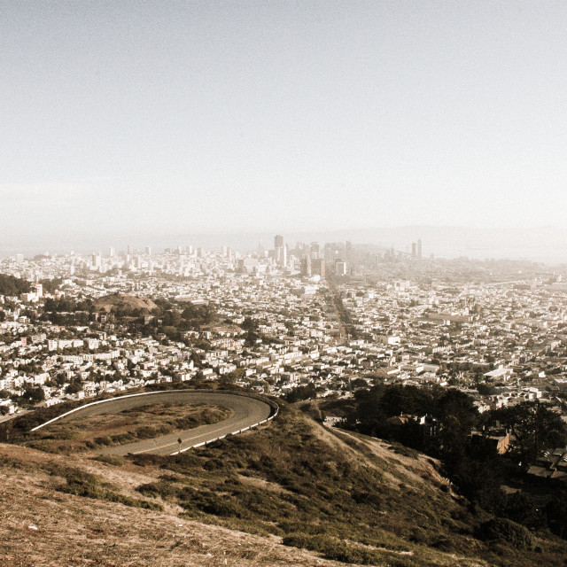 """""""A look over San Francisco"""" stock image"""