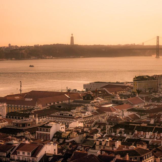 """A sight of Lisbon"" stock image"
