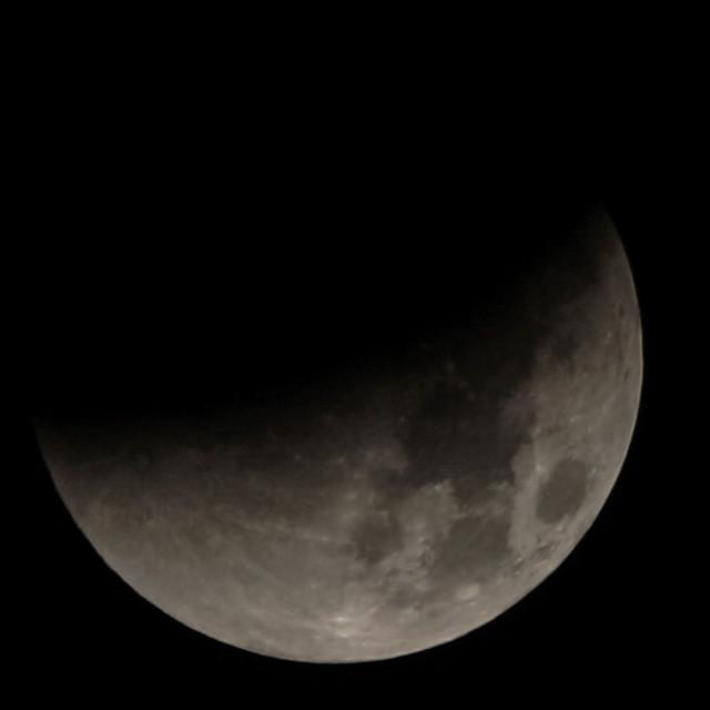 """Super Moon - Crescent"" stock image"