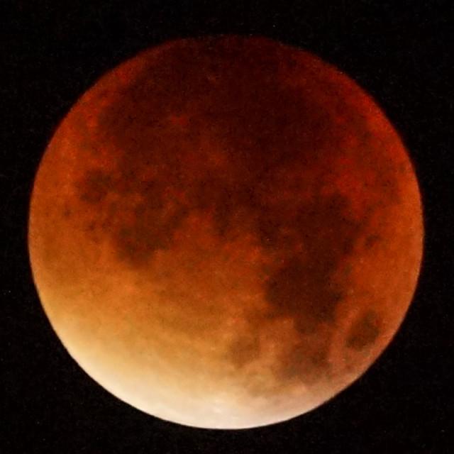 """Super Moon - Blood Moon"" stock image"