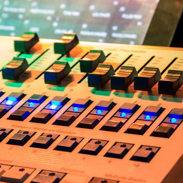 """Music mixer desk"" stock image"