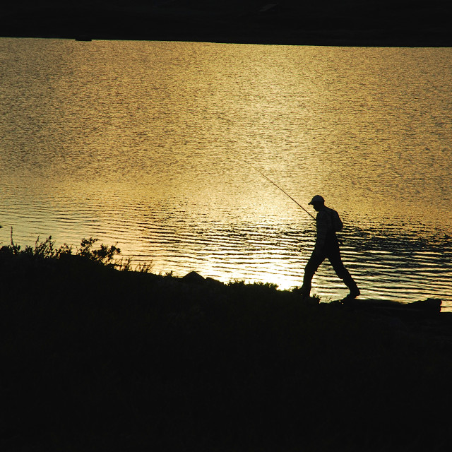 """fishing in the lake"" stock image"
