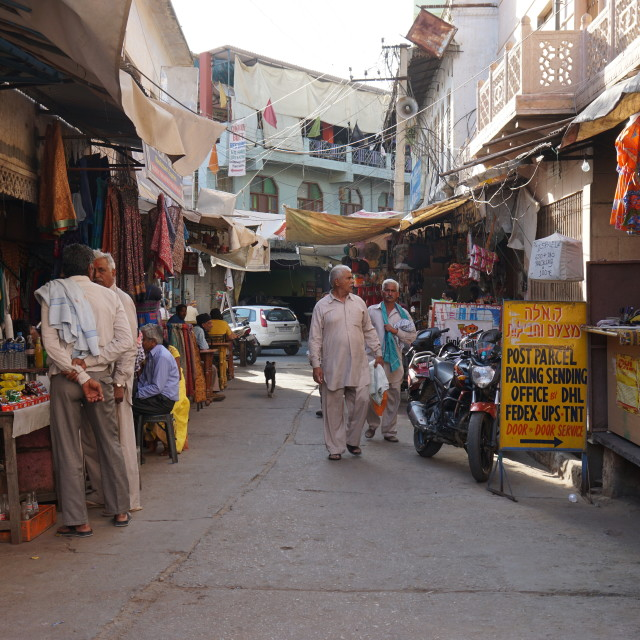 """Street of Pushkar"" stock image"