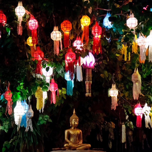 """Loi Krathong Buddha II"" stock image"