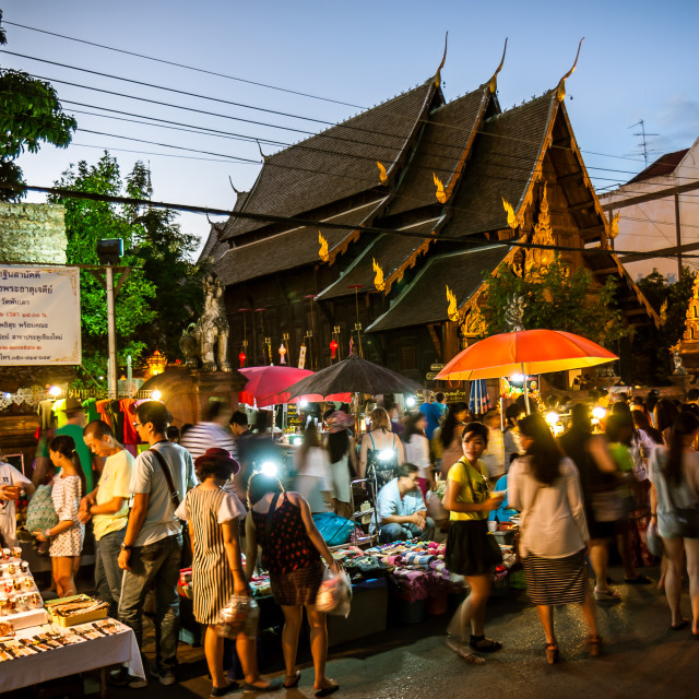 """Night Market"" stock image"