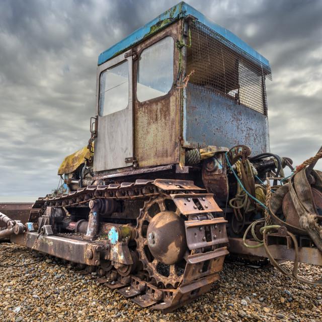 """Beach bulldozer"" stock image"