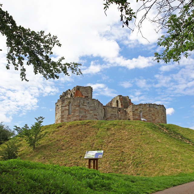 """Stafford Castle, Stafford, Staffordshire, West Midlands, England, UK"" stock image"
