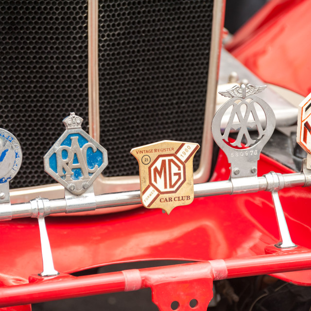 """vintage car badges"" stock image"