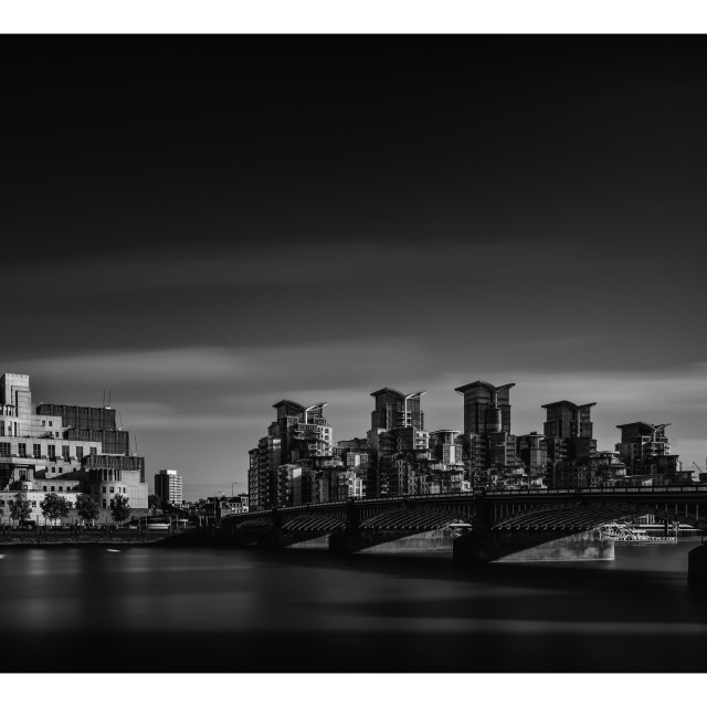"""Vauxhall Bridge"" stock image"