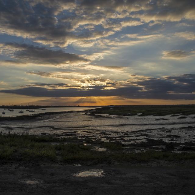 """""""North Fambridge Sunset (I)"""" stock image"""