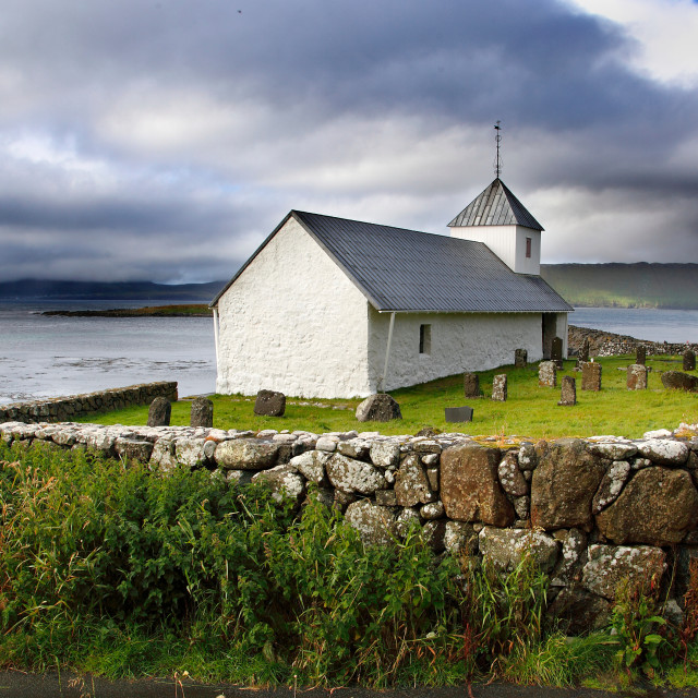 """Kirkjubor Church"" stock image"