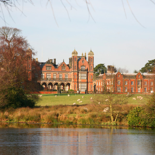 """Capesthorne Hall Stately home or country house, Cheshire, England UK"" stock image"