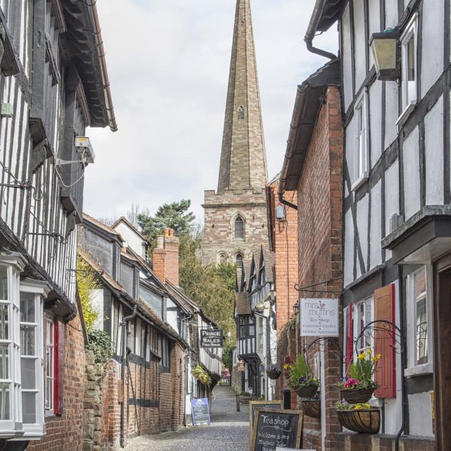 """""""Church Lane, Ledbury, Herefordshire"""" stock image"""