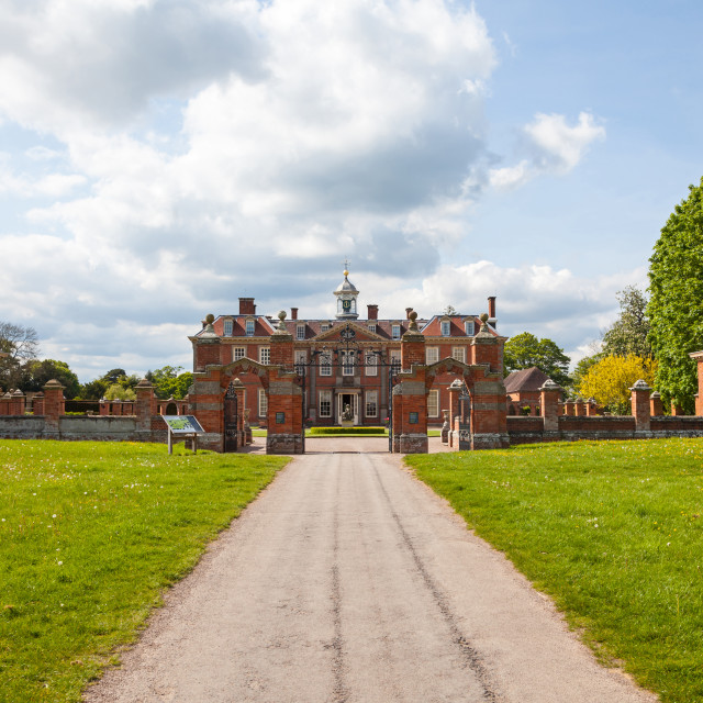 """""""Hanbury Hall stately home country house Droitwich Spa Worcestershire England UK"""" stock image"""