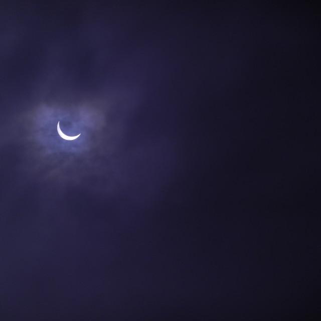 """Solar Eclipse in Purple"" stock image"